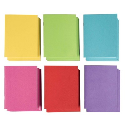"""24-Pack Colorful Blank Notebooks Bulk, 4.25"""" x 5.5"""" Pocket Journal for Travelers & Diaries"""
