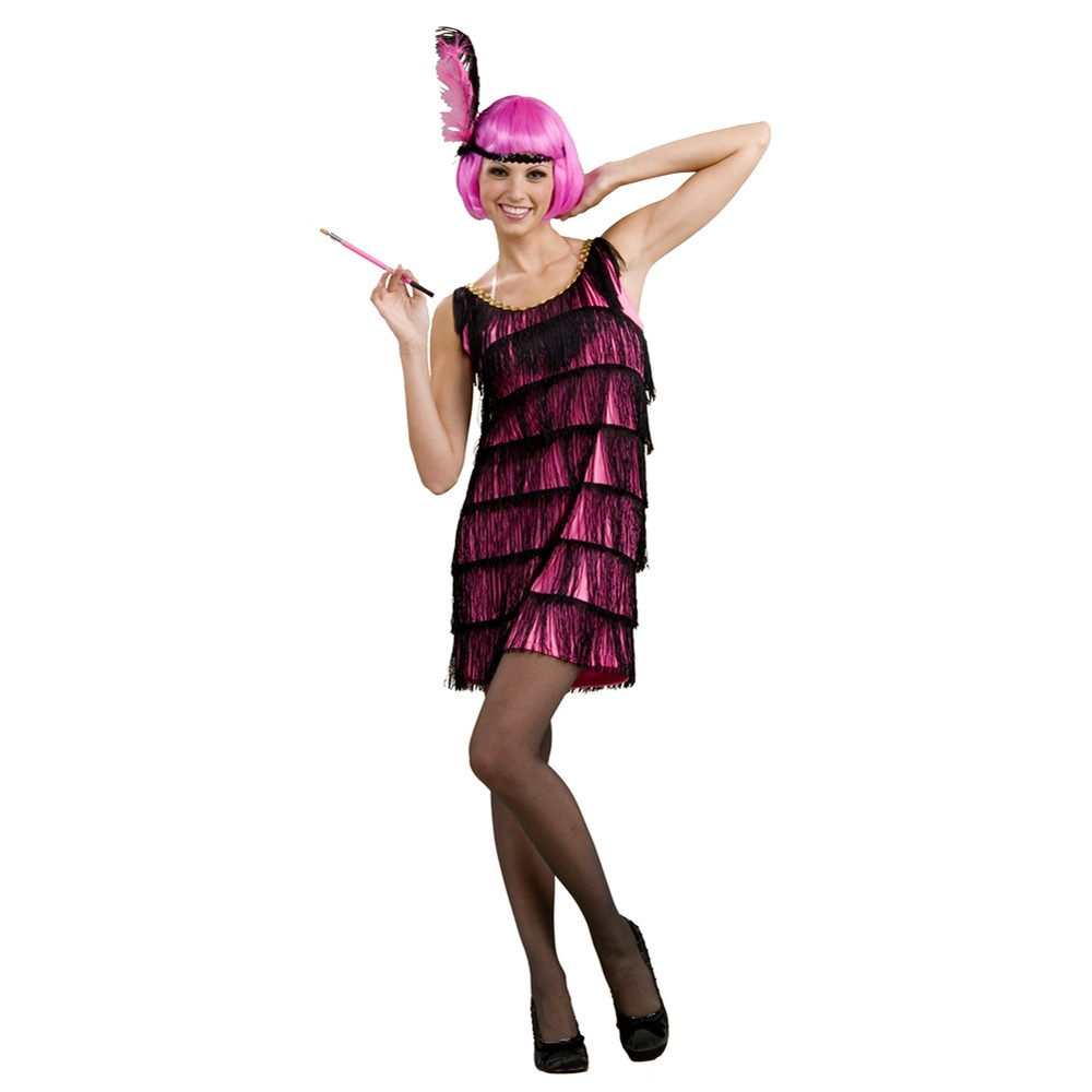 Image of Halloween Flapper Women's Costume Pink - XS/Small