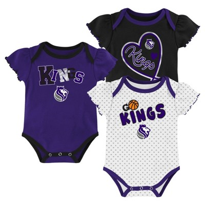 NBA Sacramento Kings Girls' Draft Pick Body Suit Set 3pk