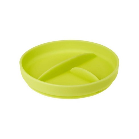 Olababy Silicone Divided Suction Plate - Kiwi - image 1 of 4