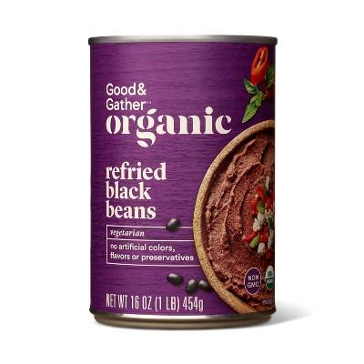 Organic Refried Black Beans 16oz - Good & Gather™