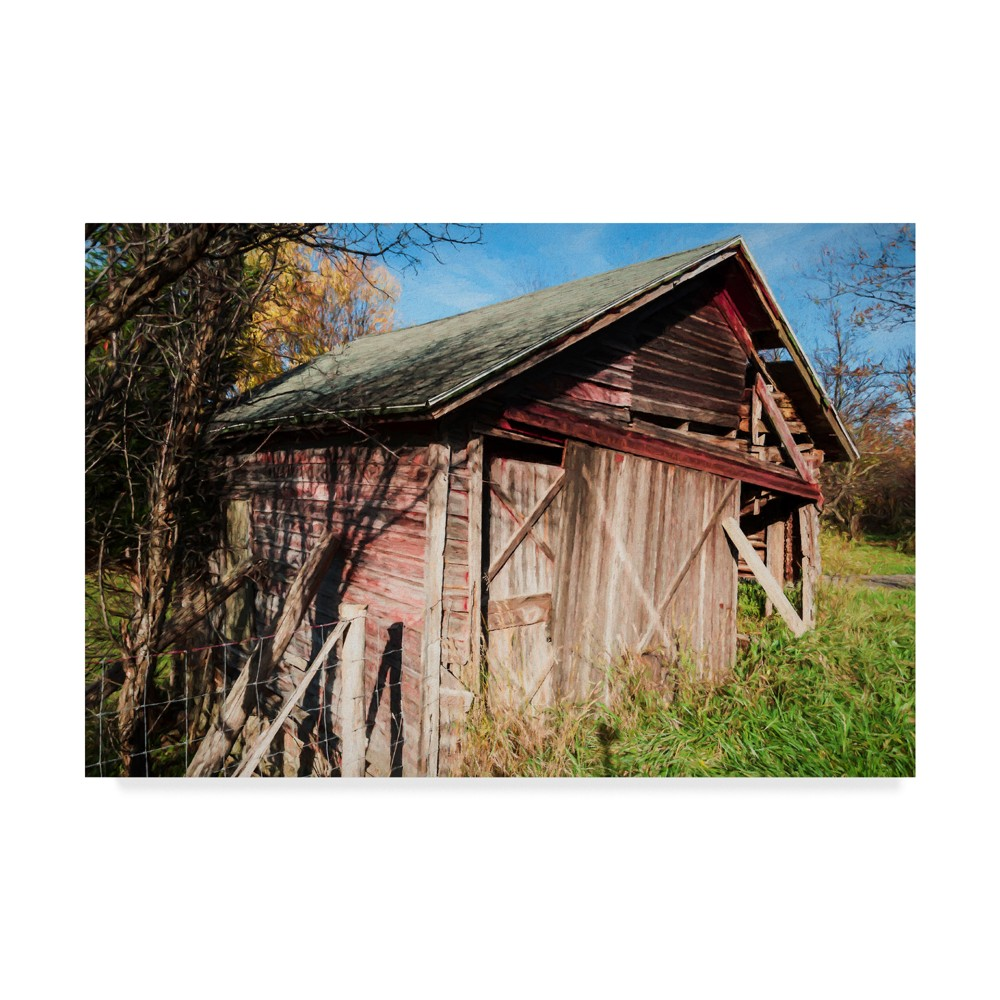 Anthony Paladino Red Barn In Woods Unframed Wall 16