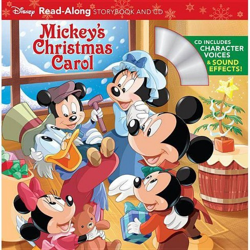Mickeys Christmas.Mickey S Christmas Carol Read Along Storybook And Cd Mixed Media Product