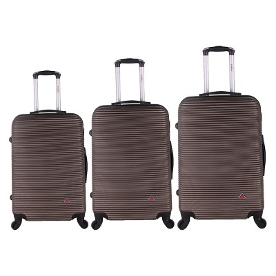 InUSA Royal 3pc Hardside Spinner Luggage Set - Brown