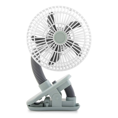 "O2COOL 4"" Battery Powered Portable Clip Fan Gray - image 1 of 4"