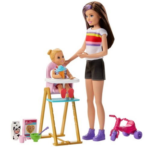 Barbie Skipper Babysitters Feeding Playset - image 1 of 4