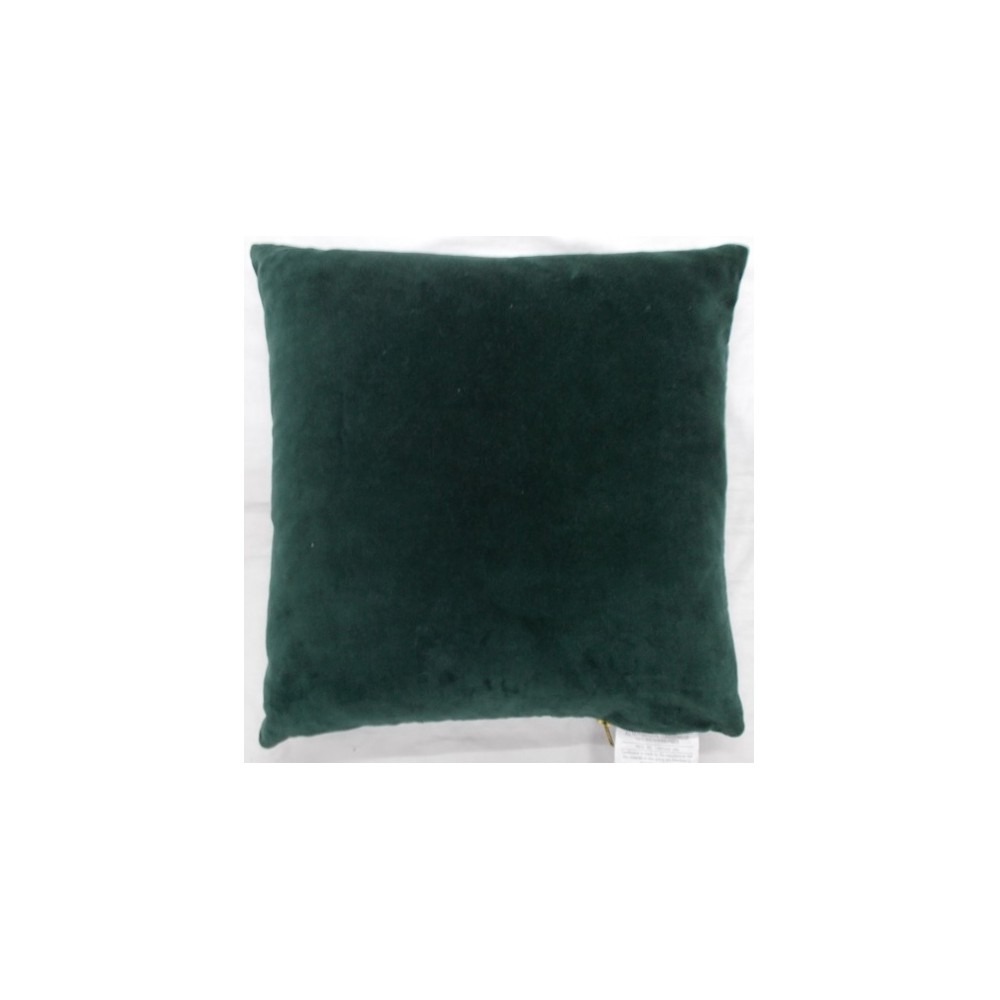 Velvet With Exposed Zipper Square Throw Pillow Dark Green - Project 62