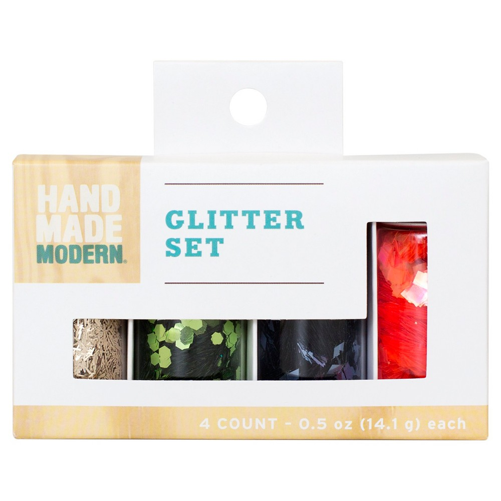 Glitter Set 4ct Orange Blue - Hand Made Modern