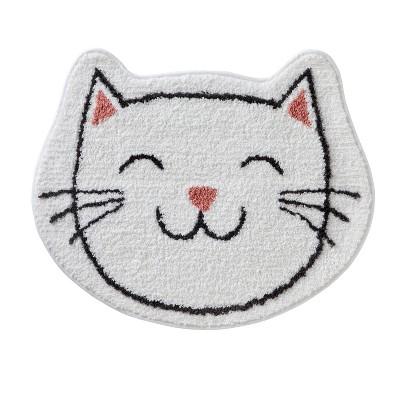 "21""x25"" Pet Play Cat Bath Rug White/Pink - SKL Home"