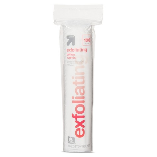 Exfoliating Cotton Rounds - 100ct - Up&Up