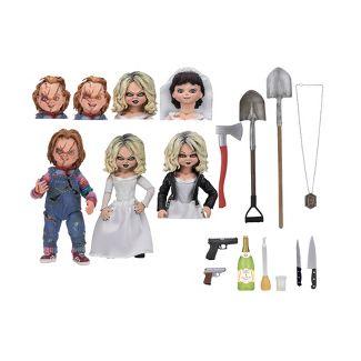 "Bride of Chucky Ultimate Chucky & Tiffany 7"" Action Figure 2pk"