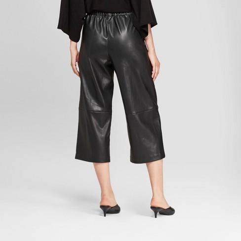 299579b52dd484 Women's Straight Leg Faux Leather Crop Pants - Prologue™ Black : Target