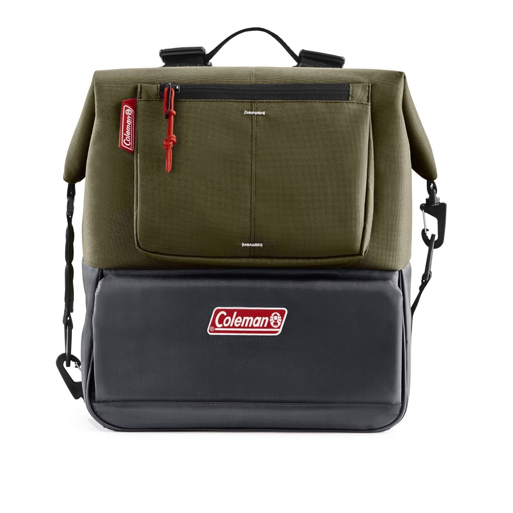 Image of Coleman 12-can Can-Dispensing Backpack Cooler - Olive