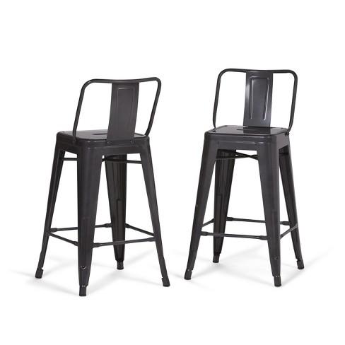 Tremendous 24 Josephine Metal Counter Height Stool Set Of 2 Wyndenhall Machost Co Dining Chair Design Ideas Machostcouk