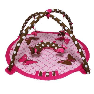 Bacati - Baby Activity Gyms & Playmats (Ladybugs Pink/Chocolate)