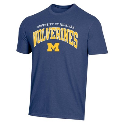 NCAA Michigan Wolverines Men's Short Sleeve Heather T-Shirt
