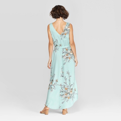 dbe4dd84a3fb Women s Floral Print Sleeveless V-Neck Woven Maxi - A New Day™ Turquoise