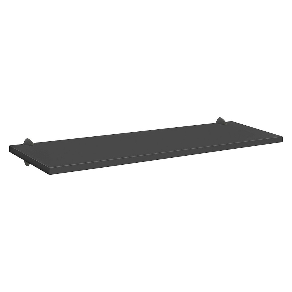 "Image of ""Black Sumo Shelf With Black Ara Supports - 45""""W x 16""""D, Size: 45 x 16"""""""