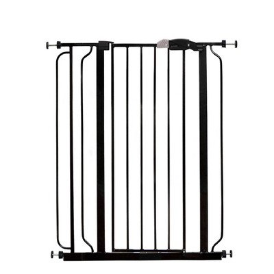 Regalo Extra Tall Easy Step Metal Walk Through Baby Gate - Black