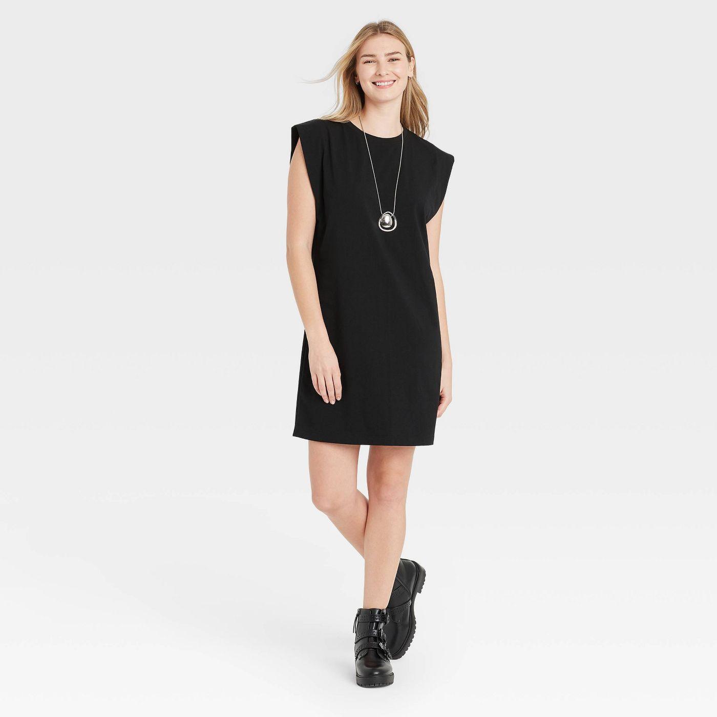 Women's Sleeveless T-Shirt Dress - A New Day™ - image 1 of 4