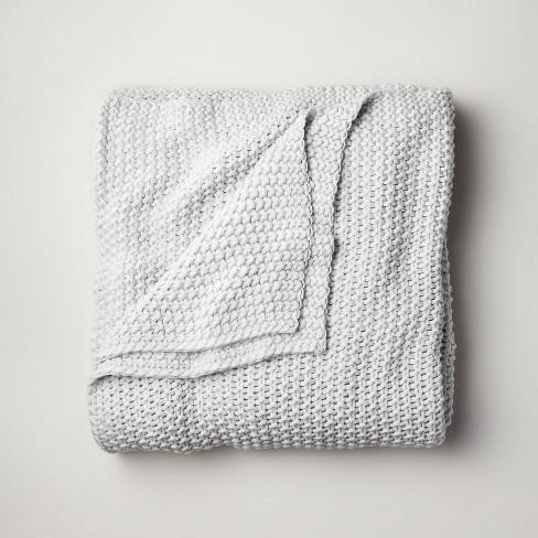Chunky Knit Bed Blanket - Casaluna™ - image 1 of 4