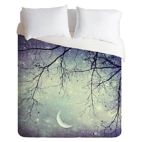 Diamonds In The Sky Lightweight Duvet Cover Queen Night Sky - Deny Designs - image 1 of 1