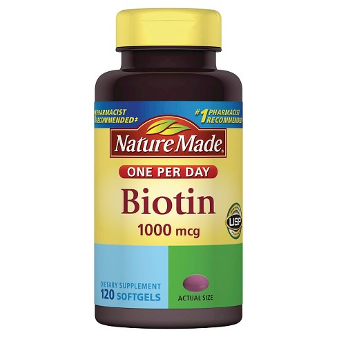 Nature Made Biotin Dietary Supplement Softgels - 120ct - image 1 of 1