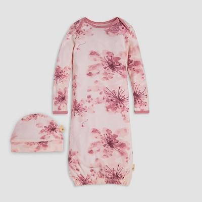 Burt's Bees Baby® Baby Girls' Daylily Organic Cotton Nightgown & Cap - Pink 0-6M