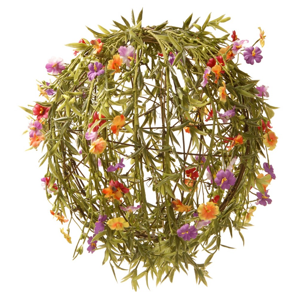 """Image of """"Garden Accents Artificial Flower Ball Green 12"""""""" - National Tree Company"""""""