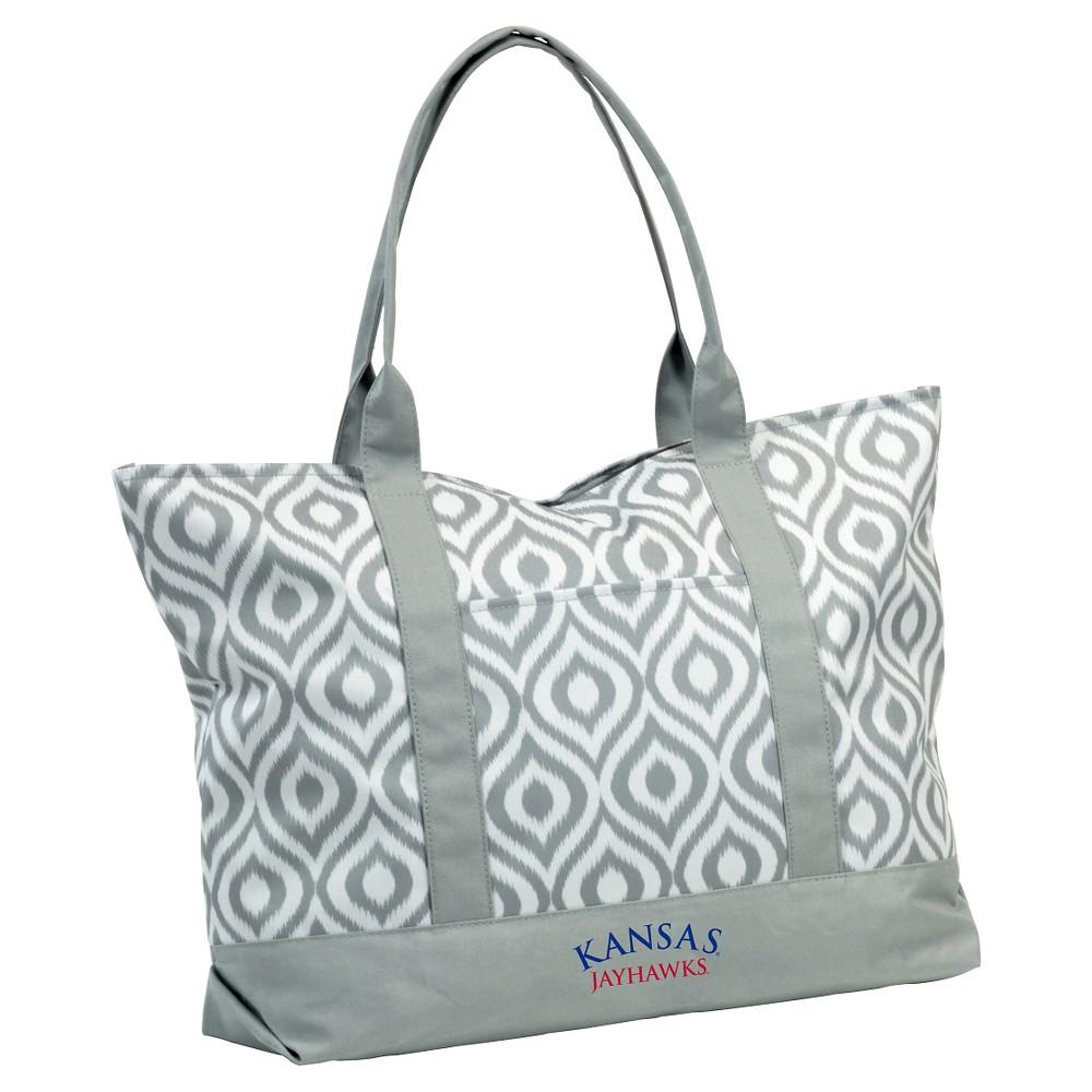 Kansas Jayhawks Ikat Tote Bag, Women's