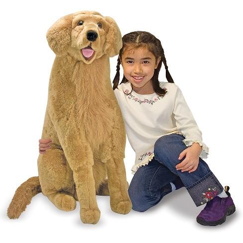 Melissa Doug Giant Golden Retriever Lifelike Stuffed Animal Dog