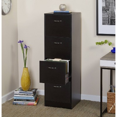 Wilson 4 Drawer Filing Cabinet Black - Buylateral