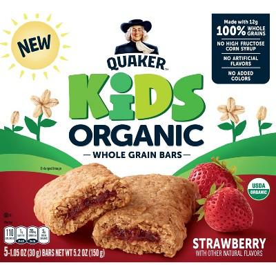 Quaker Kids Strawberry Organic Bars - 5ct