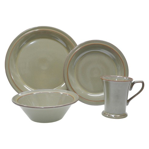 222 Fifth 16pc Dinnerware Set Brown - image 1 of 1