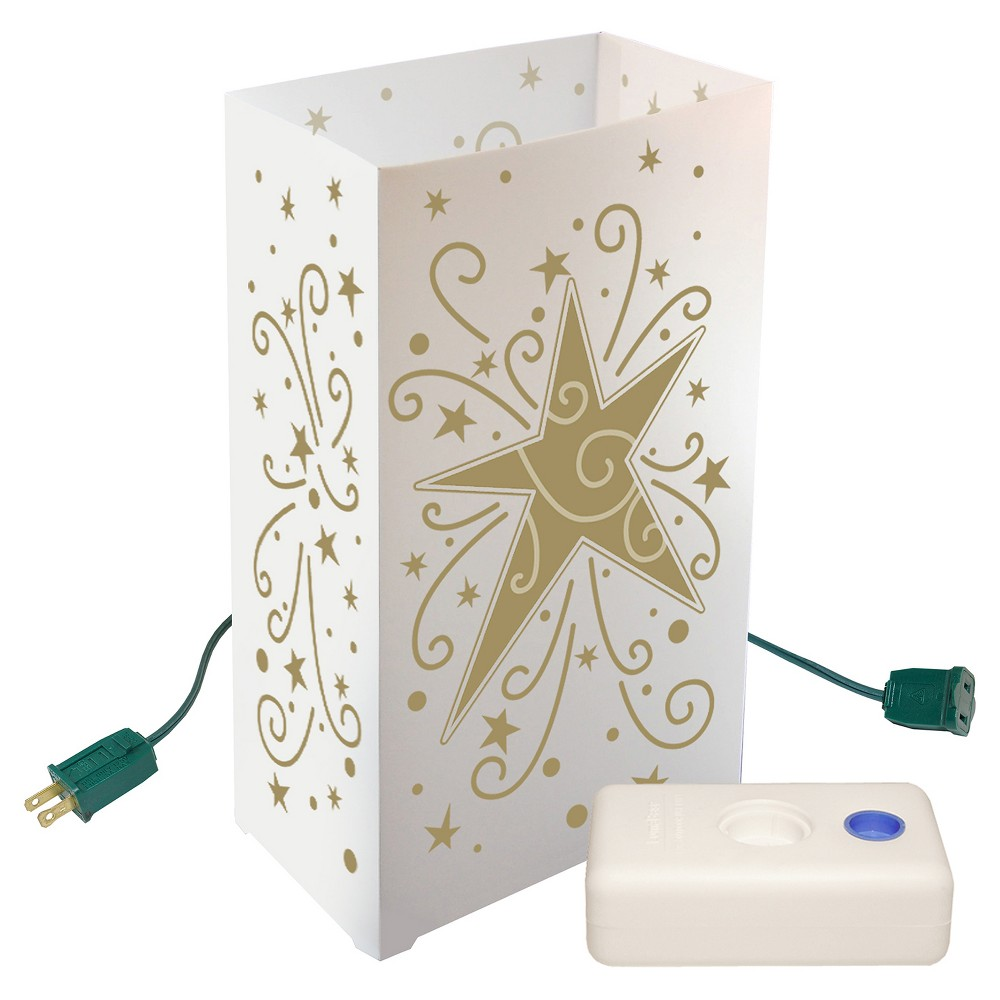 10ct Electric Luminaria Kit with LumaBases- Star