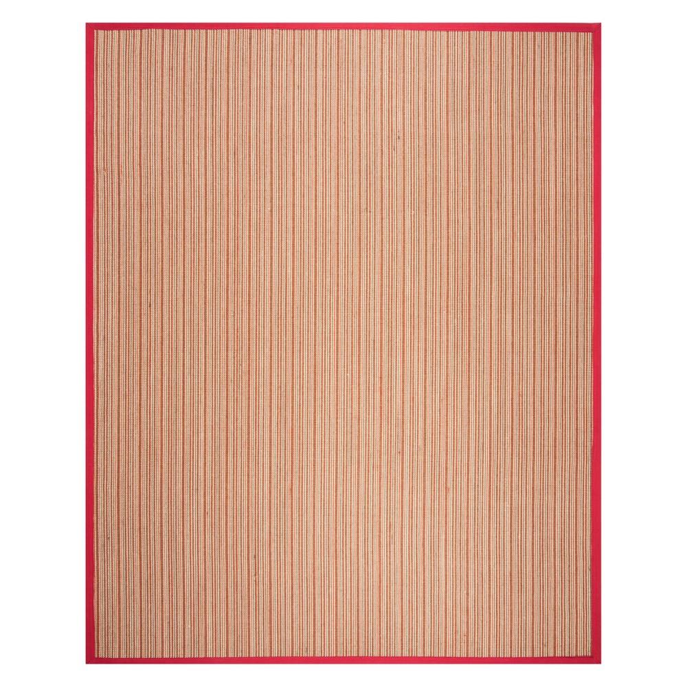 9'X12' Stripe Loomed Area Rug Brown/Red - Safavieh