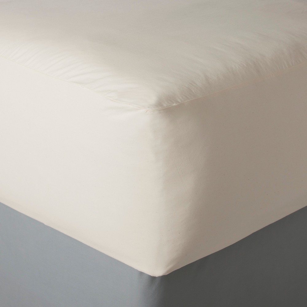 AllerEase Naturals Organic Fitted Mattress Cover (Twin), White