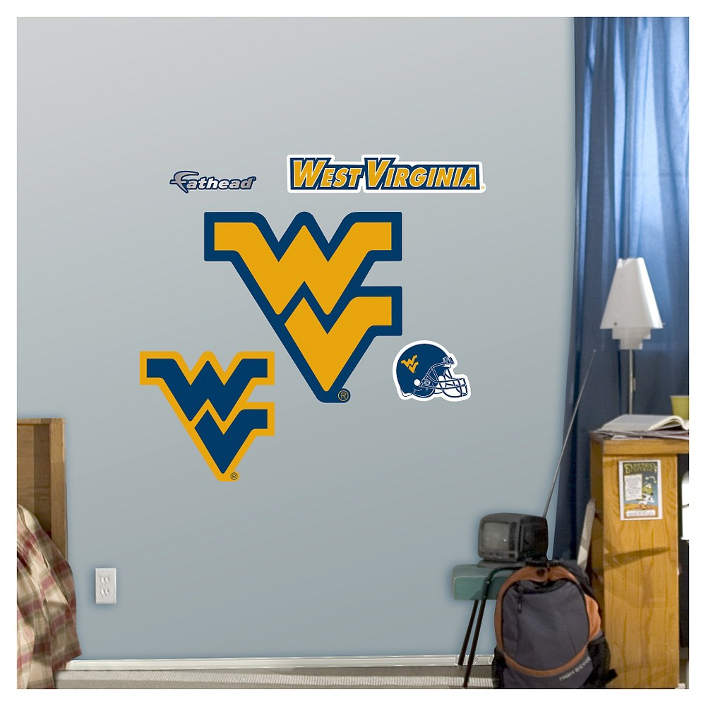 NCAA West Virginia Mountaineers FatheadDecorative Wall Art Set 40x3