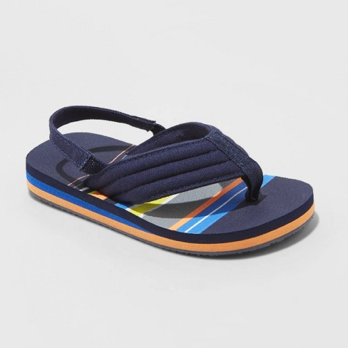 Toddler Boys' Leo Flip Flop Sandals - Cat & Jack™ Navy - image 1 of 3