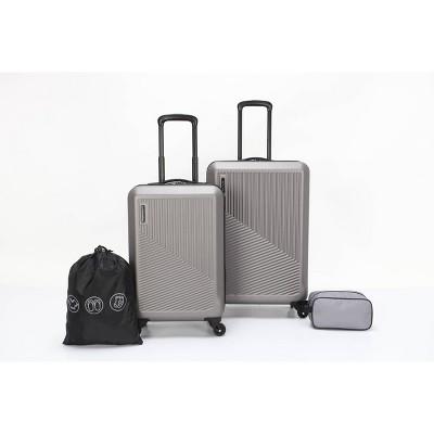 """Skyline 24"""" Hardside 4pc Luggage Set - Brushed Nickel"""