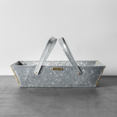 Galvanized Metal Basket - Hearth & Hand™ with Magnolia