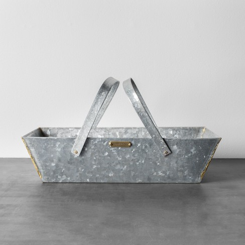 Galvanized Metal Basket - Hearth & Hand™ with Magnolia - image 1 of 2