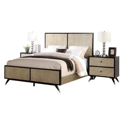 Mccarthy Mid Century 3 Piece Queen Bedroom Set   Brown   Abbyson