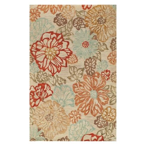 8 X11 Floral Tufted Area Rug Beige Momeni Target