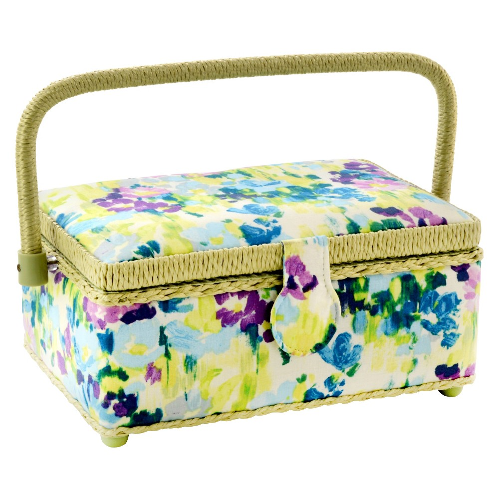 This Dritz St. Jane Sewing Basket, Blue