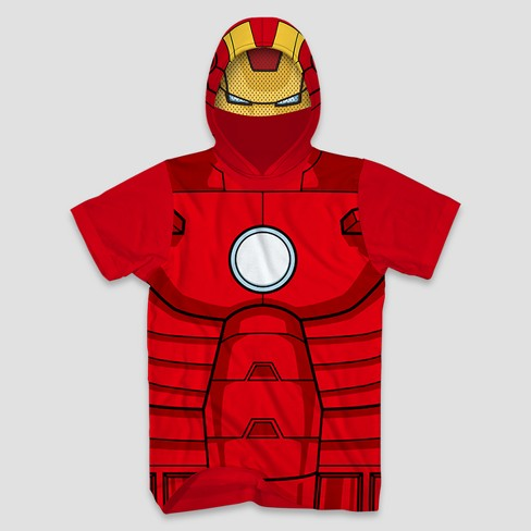 a3cb1a8fc Men's Marvel Ironman Short Sleeve Hooded T-Shirt - Red : Target