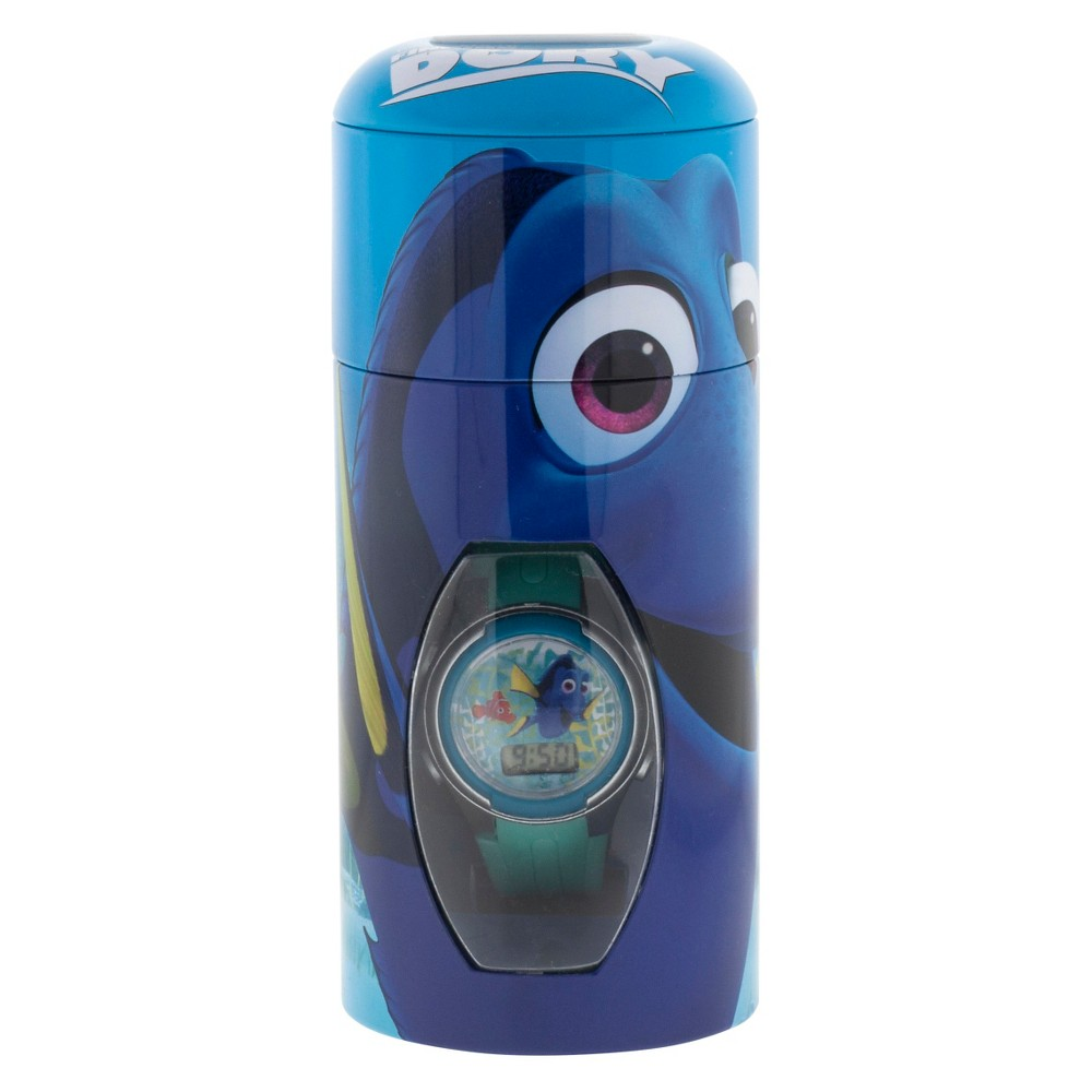 Kid's Finding Dory Watch with Cylinder Tin Coin Bank, Kids Unisex, Size: not applicable, Blue