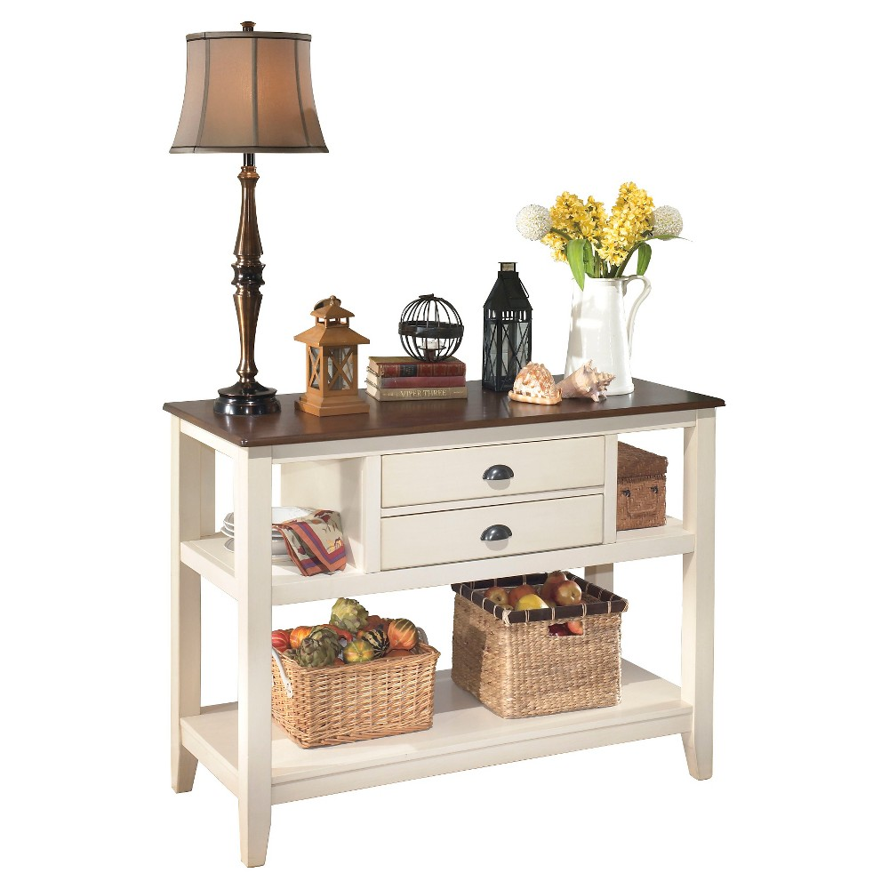 Whitesburg Dining Room Server Wood/Brown/Cottage White - Signature Design by Ashley, French Vanilla