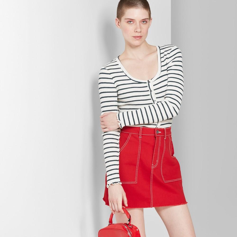 Women's Denim Mini Skirt - Wild Fable Red 8