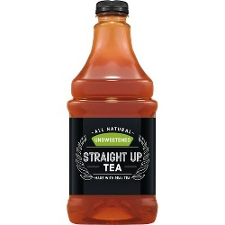 Straight Up Tea, Unsweetened Black Tea - 64 fl oz Bottle